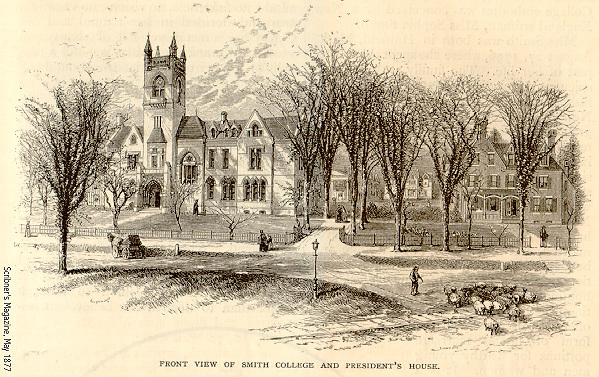 """Smith College,"" Scribner's Monthly, May 1877, p.9 illustrations"