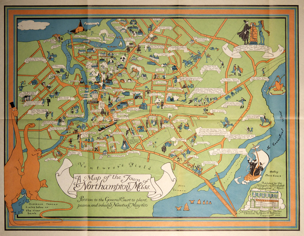 Pictorial map of Northampton Massachusetts Northampton MA