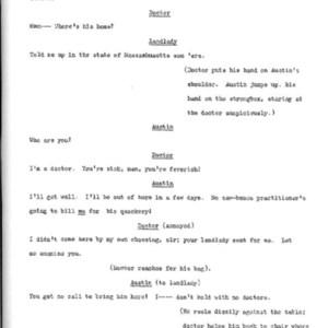 Heritage play, Scene VI: Death in New York, p. 2