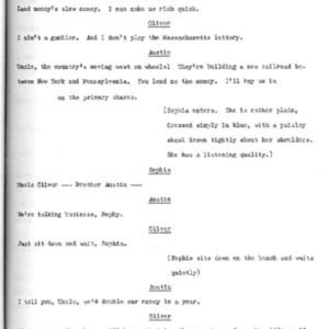 Heritage play, Scene III: New England Gothic, p. 4