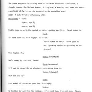 Heritage play, Scene V: All in the Family, p. 1