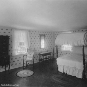 Interior views of the Smith Family homestead, Bedroom