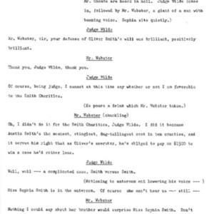 Heritage play, Scene IV: Smith vs. Smith, p. 4
