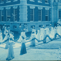 Ivy Day procession, Smith College, 1905.