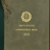 Smith College commencement week program, 1905.