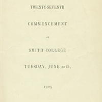 Smith College commencement program, 20 June 1905.