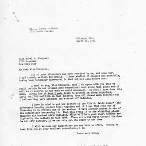 Letter from Dr. L. Eudora Ashburne to Mabel K. Staupers, 1941, March 23