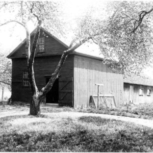 Exterior views of the Smith family homestead, barn