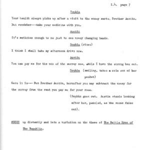 Heritage play, Scene V: All in the Family, p. 7