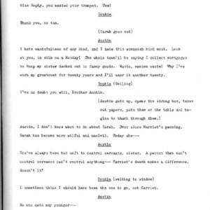 Heritage play, Scene V: All in the Family, p. 3