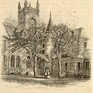 """""""Smith College,"""" Scribner's Monthly, May 1877, p.16 (bottom) illustrations"""