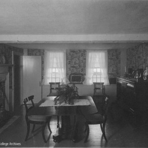 Interior views of the Smith Family homestead, Dining room