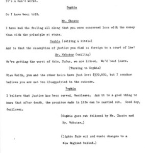 Heritage play, Scene IV: Smith vs. Smith, p. 8