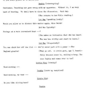 Heritage play, Scene VIII: Height of the Season, p. 6