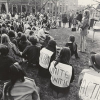 Student demonstration, August 1969.