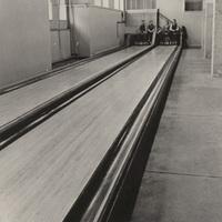 Bowling alley in Alumnae Gymnasium, undated.