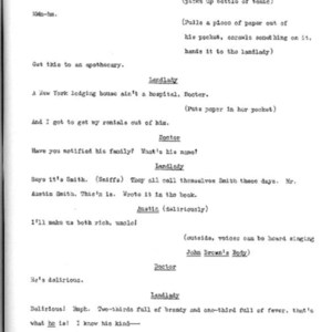 Heritage play, Scene VI: Death in New York, p. 3