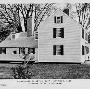 Postcard. Exterior view of the Smith family homestead.