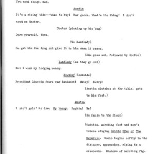 Heritage play, Scene VI: Death in New York, p. 4