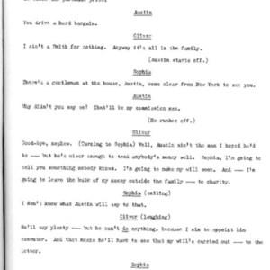 Heritage play, Scene III: New England Gothic, p. 5