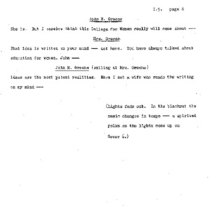 Heritage play, Scene VII: A Writing on the Mind, p. 8