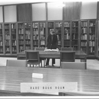 Ruth Mortimer in the Rare Book Room, c1980s.