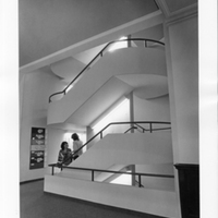 Neilson Library main staircase, 26 August 1982.