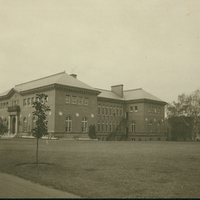 Washburn House, the Library, and Burton Hall, c1910.