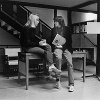 Neilson Library, first floor, November 1977.