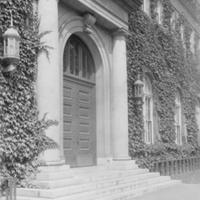Library front doors, c1930.