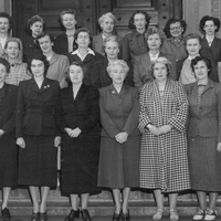 Library staff photo, 1954.