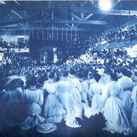 Council play in Alumnae Gym, Smith College, 22 February 1906.