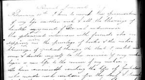 Sophia Smith, journal, 19 February 1865 (fragment)