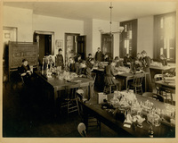Professor Harris Hawthorne Wilder's zoology class laboratory, circa 1895