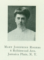 Mary Josephine Rogers, Smith College Class Book, 1905.