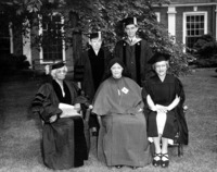 Smith College honorary degree recipients with President Wright, 1950.