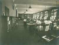 Smith College Library's Seelye Reading Room, c1910.