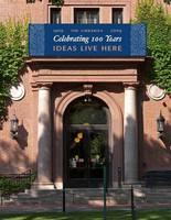 Neilson Library centennial celebration banner, fall 2009.