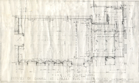 Architectural drawing for chapel in the library, c1936.