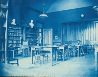Smith's first reference library on the second floor of College Hall, c1893-95.