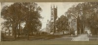 College Hall with Forbes Library to the left, c1902.