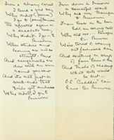 """""""From a library carrel I heard a girl say...,"""" autograph manuscript in unidentified hand, undated."""