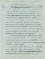 Smith College press release announcing the improvements in the library's new addition, 10 March 1937.