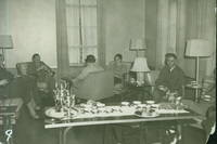 Faculty lounge in the Smith College Library, c1937.