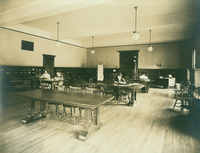 Smith College Library periodical room, c1910.