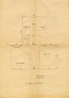 Faculty Library Committee plan for the first floor of the Smith College Library, 1906.