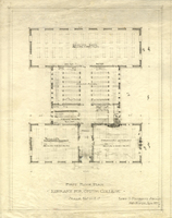 First floor plan for the library for Smith College, c1908.
