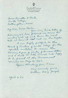 Mother Mary Joseph, autograph letter signed, dated 2 April 1943, to Annetta Clark.