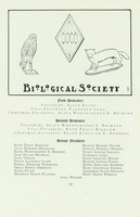Members of the Biological Society, Smith College Class Book, 1905.