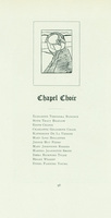 Chapel choir members, Smith College class book, 1905.